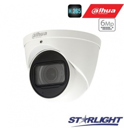 "IP kamera kupol.6MP STARLIGHT 20fps, IR 50m.,1/2.9"" 2.7~13.5mm. motor. obj. WDR, H.265, IP67, ePoE"