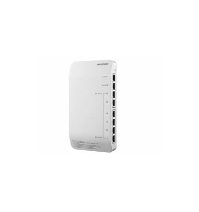 Video/audio skirstytuvas Hikvision DS-KAD606-P (8-port, 6-PoE)