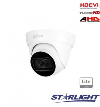 HD-CVI kam. STARLIGHT kupolinė 2MP su IR iki 30m, 2.8mm obj., STARLIGHT sensor., mic, IP67