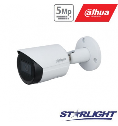 IP kamera cilindrinė 5MP STARLIGHT, IR iki 30m, 2.8mm 103°, WDR120dB, IP67, PoE , H.265