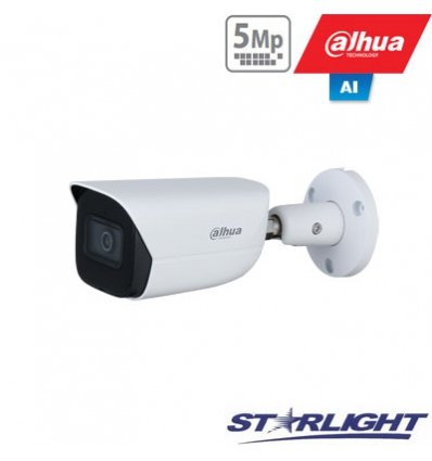 "IP kamera cilindr. 5MP STARLIGHT AI, IR pašvietimas iki 50m, 1/2.7"" 2.8mm 98°, SMD, IVS, IP67, H.265"